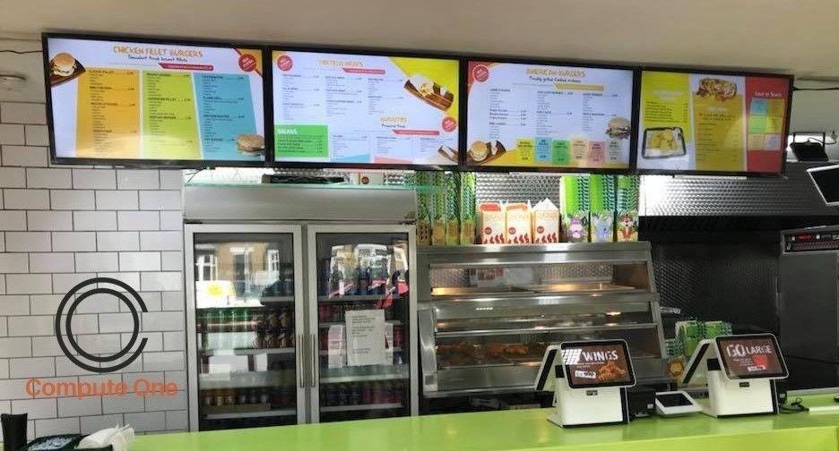 digital menu display
